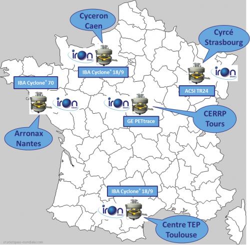 Le réseau de cyclotrons du Labex IRON
